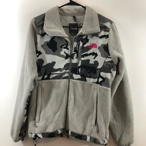 The North Face Women's Denali Camo Grey Jacket M